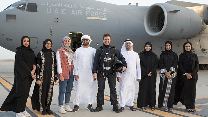 Tom Cruise with twofour54 team