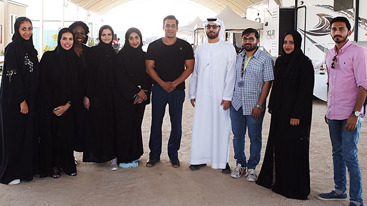 Salman Khan with twofour54 staff